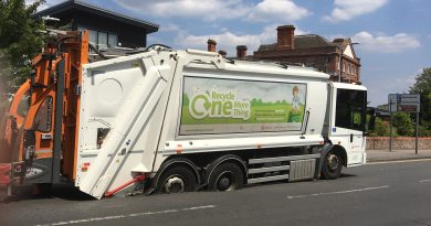 Waste Lorry Stuck in Newbury