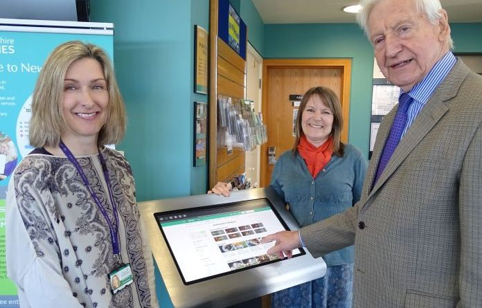 Visitor Information Point installed at Newbury Library