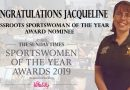 Vote for Jacqueline in the Grassroots Sportswoman of the Year Awards