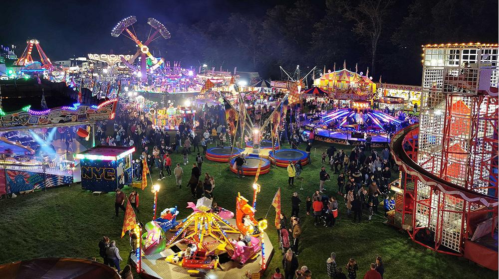 Stunning bird's eye view of the Michaelmas Fair