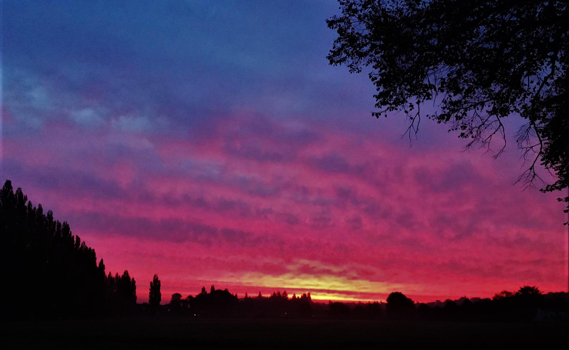 Red sky in morning…